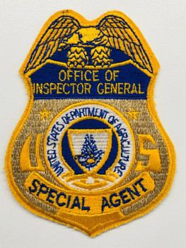 DEPT. OF AGRICULTURE INSPECTOR GENERAL POLICE PATCH RARE
