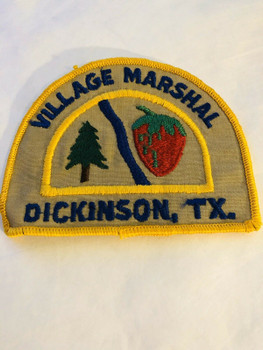 DICKSON TEXAS VILLAGE MARSHAL PATCH