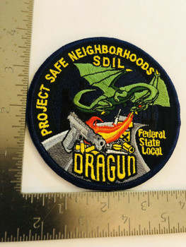 DRAGUN FEDRAL, STATE, LOCAL TASK FORCE PATCH VERY RARE LAST ONE2