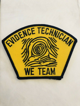 EVIDENCE TECHNICIAN WE TEAM POLICE PATCH
