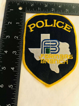 FARMERS BRANCH TEXAS POLICE PATCH