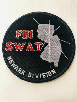FBI SWAT NEWARK BLACK PATCH