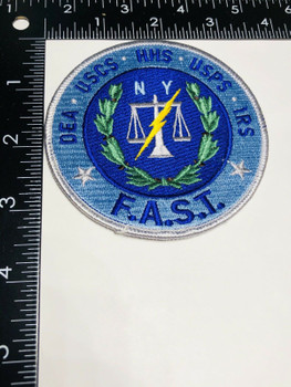 FED TASK FORCE NEW YORK FIVE AGENCIES PATCH VERY RARE