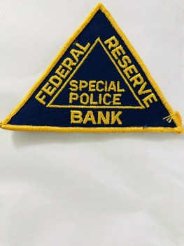 FEDERAL RESERVE BANK SPECIAL POLICE PATCH LAST ONE VERY RARE
