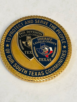 LA SALE COUNTY SHERIFF COINGREAT TEXAS COIN, BIG PRIDE!