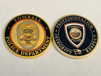 TOMBALL POLICE TEXAS COIN