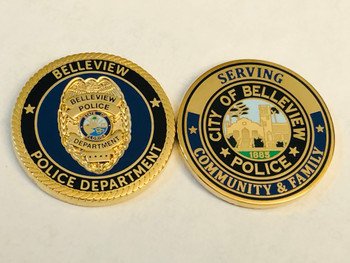 BELLEVIEW POLICE FLORIDA COIN