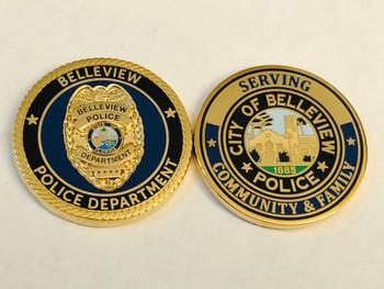 BELLEVIEW POLICE FLORIDA COIN