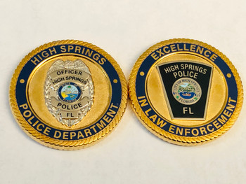 HIGH SPRINGS POLICE FLORIDA COIN