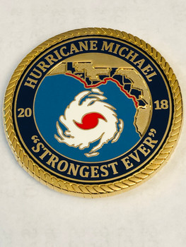 MEXICO BEACH POLICE HURRICANE FLORIDA COIN