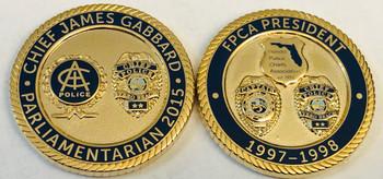 CHIEF GABBARD POLICE IACP COIN