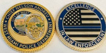 WEST MAIMI POLICE BLUELINE FLORIDA COIN