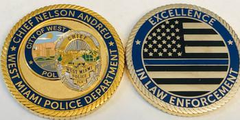 WEST MAIMI POLICE BLUELINE FLORIDA COIN