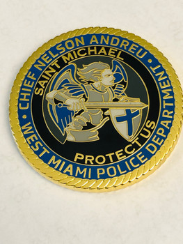 WEST MAIMI POLICE ST. MICHAEL FLORIDA COIN