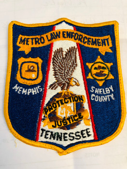 METRO LAW ENFORCEMENT TENNESSEE TASK FORCE PATCH RARE LAST ONE