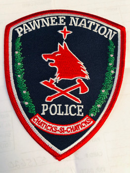 PAWNEE NATION POLICE PATCH RARE LAST ONE