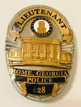 ROME POLICE GEORGIA LIEUTENANT BADGE