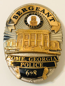 ROME POLICE GEORGIA SERGEANT BADGE