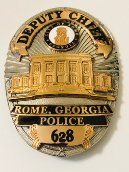 ROME POLICE GEORGIA DEPUTY CHIEF BADGE