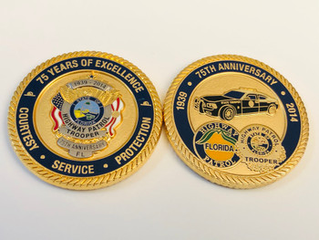 FHP FLORIDA HIGHWAY PATROL 75TH ANNIV. COIN RARE