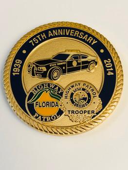 FHP FLORIDA HIGHWAY PATROL 75TH ANNIV. COIN RARE