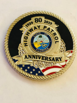 FLORIDA HIGHWAY PATROL 80TH ANNIV. COIN