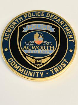 ACWORTH POLICE GEORGIA COIN