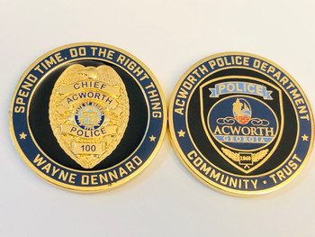 ACWORTH POLICE GEORGIA COIN