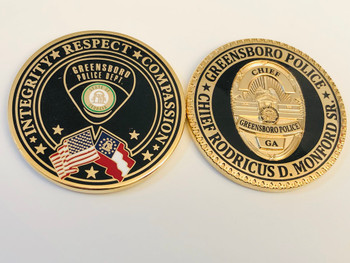 GREENSBORO POLICE GEORGIA COIN