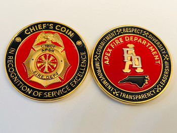 APEX FIRE NORTH CAROLINA COIN