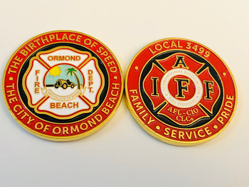 ORMOND BEACH FIRE FLORIDA COIN