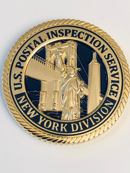 US POSTAL INSPECTION NY DIV. BLUE COIN