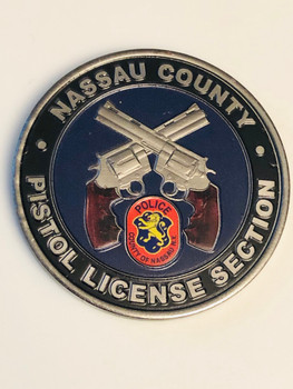 NASSAU CTY POLICE NY PISTOL LICENSE SECTION COIN