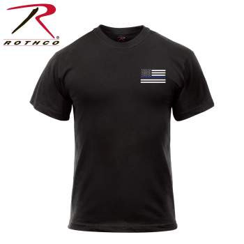 Honor and Respect 2-Sided Thin Blue Line Flag T-Shirt