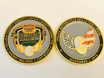 VOLUSIA SHERIFF FL MOTORCYCLE CHALLENGE COIN