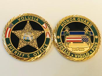 VOLUSIA SHERIFF FL HONOR GUARD COIN
