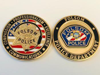 FOLSOM POLICE CA COIN