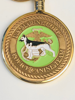 USMC MARINE CORPS POLICE K-9 KEYTAG