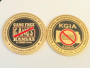 KANSAS GANG INVESTIGATORS ASSOC COIN