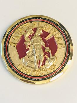 ST. FLORIAN FIREFIGHTER COIN