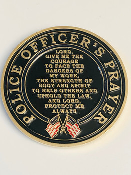 ST. MICHAEL POLICE OFFICER PRAYER COIN