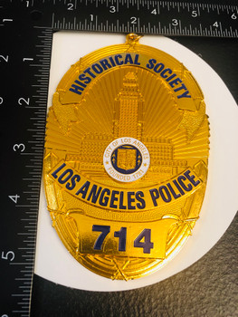 LAPD 714 BADGE HISTORICAL SOCIETY PAPERWEIGHT