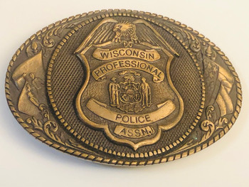 WISCONSIN PROFESSIONAL POLICE ASSN. BELT BUCKLE