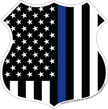 Thin Blue Line Shield Plate