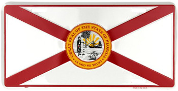 Florida Flag License Plate
