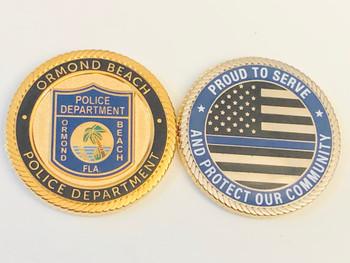 ORMOND BEACH FLORIDA POLICE COIN