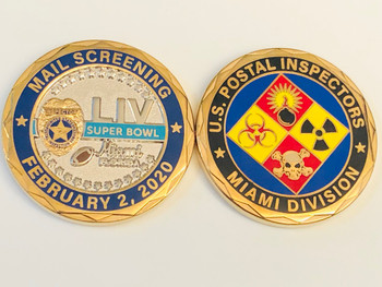 POSTAL INSPECTORS SUPER BOWL COIN