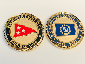 PLYMOUTH YACHT CLUB COIN