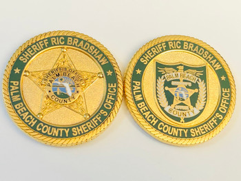 PALM BEACH SHERIFF FLORIDA RIC BRADSHAW COIN
