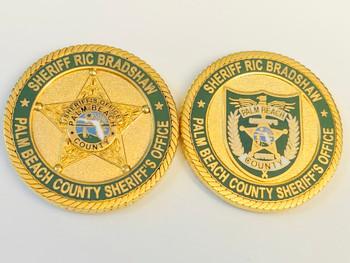PALM BEACH SHERIFF FLORIDA RIC BRADSHAW COIN